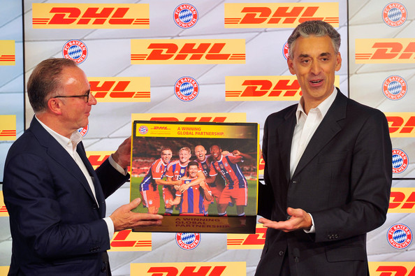 fc bayern muenchen and dhl unveil partnership 1 of 9 zimbio. Black Bedroom Furniture Sets. Home Design Ideas