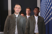 Niko Kovac, head coach of FC Bayern Muenchen arrives with Serge Gnabry and Thomas Mueller for the FC Bayern Muenchen and Paulaner Photo Session at FGV Schmidtle Studios on September 2, 2018 in Munich, Germany. .The traditional photo shoot featuring FC Bayern Muenchen for the Paulaner brewery who have been a platinum partner with Bayern Muenchen since 2003. Giving some of the stars from Germany?s record-breaking football team and their trainer Niko Kovac the opportunity to get in touch with some Bavarian culture by dressing for the shoot in Lederhosen the traditional attire of Bavaria.