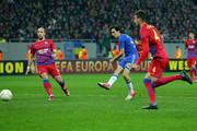 Yossi Benayoun of Chelsea has a shot on goal during the UEFA Europa League Round of 16 match between FC Steaua Bucuresti and Chelsea at the National Arena on March 7, 2013 in Bucharest, Romania.