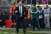 Interim Manager of Chelsea, Rafael Benitez on the side lines during the UEFA Europa League Round of 16 match between FC Steaua Bucuresti and Chelsea at the National Arena on March 7, 2013 in Bucharest, Romania.
