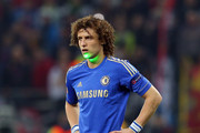 David Luiz of Chelsea has a light beamed on his face during the UEFA Europa League Round of 16 match between FC Steaua Bucuresti and Chelsea at the National Arena on March 7, 2013 in Bucharest, Romania.