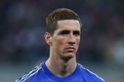 Fernando Torres of Chelsea looks on during the UEFA Europa League Round of 16 match between FC Steaua Bucuresti and Chelsea at the National Arena on March 7, 2013 in Bucharest, Romania.