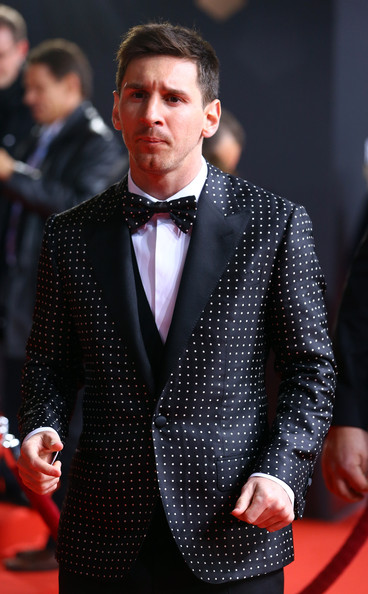 Lionel Messi of Barcelona poses during the red carpet arrivals for the FIFA Ballon d?Or Gala 2012 on January 7, 2013 at Congress House in Zurich, Switzerland.