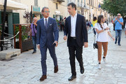 Head coach of Italy Roberto Mancini and general director Michele Uva during FIGC 120 Years Exhibition on June 19, 2018 in Matera, Italy.
