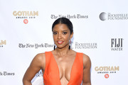 Renee Elise Goldsberry attends the 2019 IFP Gotham Awards with FIJI Water at Cipriani Wall Street on December 02, 2019 in New York City.