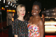 Actresses Mickey Sumner and Adepero Oduye at the 9th Annual Women in Film Pre-Oscar Cocktail Party in partnership with FIJI Water on February 26, 2016 in West Hollywood, California.
