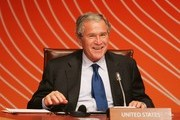 US President George W. Bush attends a retreat meeting during day one of the APEC Economic Leaders Meetings at the The Sydney Opera House September 8, 2007 in Sydney, Australia. Economic leaders from 21 nations are meeting in Sydney during the week long summit.