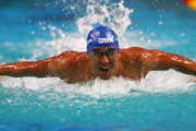 Chad le Clos of South Africa competes in the Mens 100m Butterfly on day 1 of the FINA Swimming World Cup held at Pieter van den Hoogenband & Tongelreep Swimming Stadium on September 28, 2018 in Eindhoven, Netherlands.
