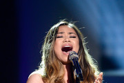 """Recording artist Jessica Sanchez performs onstage during FOX's """"American Idol"""" Finale For The Farewell Season at Dolby Theatre on April 7, 2016 in Hollywood, California. at Dolby Theatre on April 7, 2016 in Hollywood, California."""