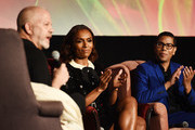 "(L-R) Ryan Murphy, Janet Mock and Steven Canals attend the FYC Event for FX'x ""Pose"" at the Hollywood Athletic Club on June 01, 2019 in Hollywood, California."