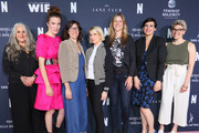 (L-R) Marta Kauffman, Liz Flahive, Carly Mensch, Liz Feldman, Sophie Lanfear, Stacey Wilson Hunt and Carmen Rios attend FYC Netflix Event Rebels And Rule Breakers at Netflix FYSEE at Raleigh Studios on June 02, 2019 in Los Angeles, California.