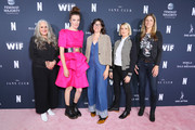 Marta Kauffman, Liz Flahive, Carly Mensch, Liz Feldman and Sophie Lanfear attend FYC Netflix Event Rebels And Rule Breakers at Netflix FYSEE at Raleigh Studios on June 02, 2019 in Los Angeles, California.
