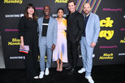 """(L-R) Casey Wilson, Don Cheadle, Regina Hall, Andrew Rannells and Paul Scheer attend FYC Red Carpet Event For Showtimes' """"Black Monday"""" at Saban Media Center on May 14, 2019 in North Hollywood, California."""