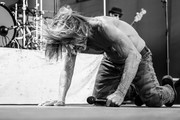 Image converted to black and white. Color version available.)  Iggy Pop performs onstage on day 3 of FYF Fest 2017 at Exposition Park on July 23, 2017 in Los Angeles, California.