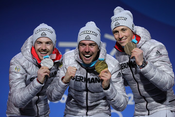 Fabian Riessle Medal Ceremony - Winter Olympics Day 12