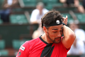 Fabio Fognini 2018 French Open - Day Nine