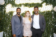 "(L-R)  Actors Jovan Adepo, Elizabeth Olsen, and Mamoudou Athie attend the Facebook Watch ""Sorry For Your Loss"" S2 Premiere at NeueHouse Hollywood on October 1, 2019 in Los Angeles, California."