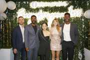 "(L-R) Actors Zack Robidas, Jovan Adepo, Kelly Marie Tran, Elizabeth Olsen, and Mamoudou Athie attend the Facebook Watch ""Sorry For Your Loss"" S2 Premiere at NeueHouse Hollywood on October 1, 2019 in Los Angeles, California."