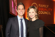Producer Greg Berlanti (L) and actress Calista Flockhart attend the Family Equality Council Impact Awards on March 12, 2016 in Beverly Hills, California.