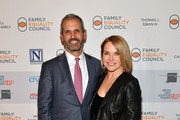 """John Molner and Katie Couric attend Family Equality Council's """"Night at the Pier"""" at Pier 60 on May 7, 2018 in New York City."""