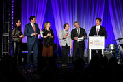 """Sam Lippitt, Nick Scandalios, Primavera Salva, Bruce Cohen, Luigi Caiola and Tom Swann attend Family Equality Council's """"Night At The Pier"""" at Pier 60 on May 7, 2018 in New York City."""