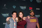 Ben Feldman, Lauren Ash and Colton Dunn attend the Fandom Party at SDCC 2019 featuring R.U.N - the first live-action thriller by Cirque du Soleil at Float at Hard Rock Hotel San Diego on July 18, 2019 in San Diego, California.