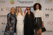 (L-R) Francine Lefrak, Evie Evangelou, Donna Karan, and Veronica Webb attend Fashion 4 Development's 9th Annual Official First Ladies Luncheon at The Pierre Hotel on September 24, 2019 in New York City.