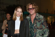 Elena Perminova and Peter Dundas attend the Fashion Tech Lab Launch Event Hosted By Miroslova Duma And Stella McCartney as part of Paris Fashion Week Womenswear Spring / Summer 2018, on October 2, 2017 in Paris, France.