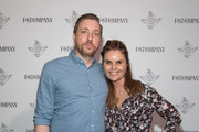 Matthew DiGirolamo (L) and Maria Shriver attend the Fast Company Grill on March 09, 2019 in Austin, Texas.