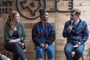 """(L-R) Kelly Strickland, Senior Vice President of Tour Marketing, Live Nation, Rozonda """"Chilli"""" Thomas, Singer-Songwriter, TLC, and Bill Diggins, Founder and CEO of Diggit Entertainment attend the Fast Company Grill on March 09, 2019 in Austin, Texas."""