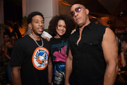 "Chris ""Ludacris"" Bridges, Nathalie Emmanuel and Vin Diesel attend the Fast & Furious F9 After Party at Kaido Miami on January 31, 2020 in Miami, Florida."