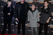 "Shane Richie (second left) and guests attend the ""Fast and Furious Live"" premiere at the O2 Arena on January 19, 2018 in London, England."