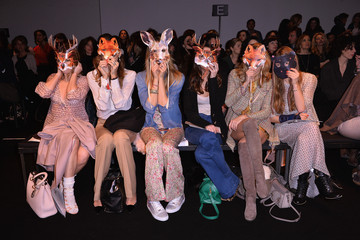 Federica Fontana Valentina Scambia Front Row at the Kristina T Show
