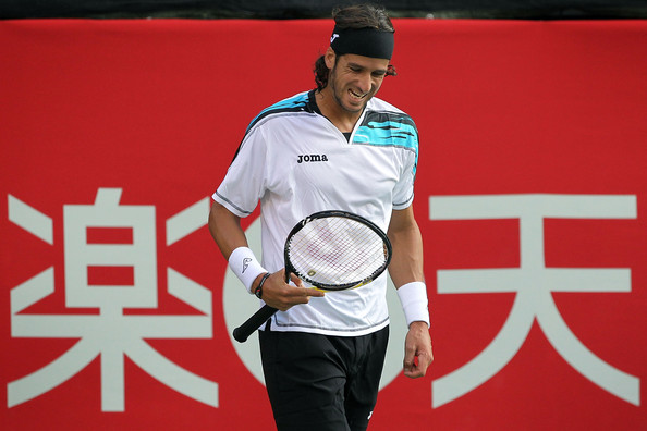Feliciano Lopez Feliciano Lopez of Spain reacts in his match against Guillermo Garcia-Lopez of Spain on day three of the Rakuten Open tennis tournament at Ariake Colosseum on October 6, 2010 in Tokyo, Japan.
