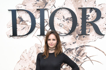 Felicity Jones Christian Dior: Photocall - Paris Fashion Week - Haute Couture Fall/Winter 2017-2018