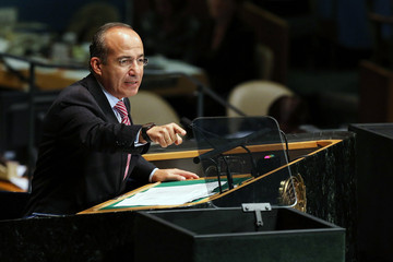 Felipe Calderon World Leaders Attend UN General Assembly
