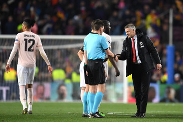 Felix Brych FC Barcelona v Manchester United - UEFA Champions League Quarter Final: Second Leg