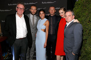 """Actors Tom Wilkinson, Jai Courtney, Sarah Roberts, Joel Edgerton, Melissa George and director Matthew Saville arrive at the """"Felony"""" Cocktail Party during the 2013 Toronto International Film Festival held at Hudson Kitchen on September 10, 2013 in Toronto, Canada."""