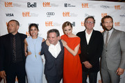 (L-R) Actor/ writer/ producer Joel Edgerton, actress Sarah Roberts, director Matthew Saville, actors Melissa George, Tom Wilkinson and Jai Courtney arrive at the 'Felony' Premiere during the 2013 Toronto International Film Festival at The Elgin on September 10, 2013 in Toronto, Canada.