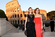 Kiernan Shipka and  Zoey Deutch  attend the Cocktail at Fendi Couture Fall Winter 2019/2020 on July 04, 2019 in Rome, Italy.