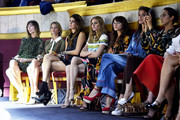 (L-R) Anya Ziourova, Helena Bordon, Bianca Brandolini dÂ'Adda, Olivia Palermo, Miroslava Duma, Elisa Sednaoui and Delfina Delettrez Fendi attend the Fendi show as part of Paris Fashion Week Haute Couture Fall/Winter 2015/2016 on July 8, 2015 in Paris, France.