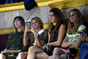(L-R) Anya Ziourova, Helena Bordon, Bianca Brandolini dÂ'Adda and Olivia Palermo attend the Fendi show as part of Paris Fashion Week Haute Couture Fall/Winter 2015/2016 on July 8, 2015 in Paris, France.