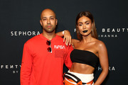 Kane Vato and Pia Muehlenbeck attend the Fenty Beauty by Rihanna Anniversary Event on October 03, 2018 in Sydney, Australia.