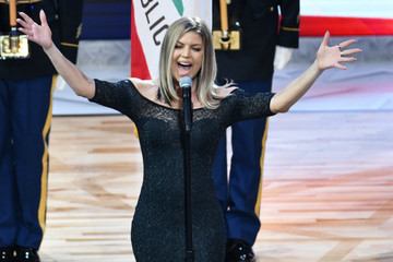 Fergie Celebrities At The 67th NBA All-Star Game: Team LeBron Vs. Team Stephen
