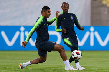 Fernandinho Brazil Press Conference and Training Session - 2018 FIFA World Cup Russia