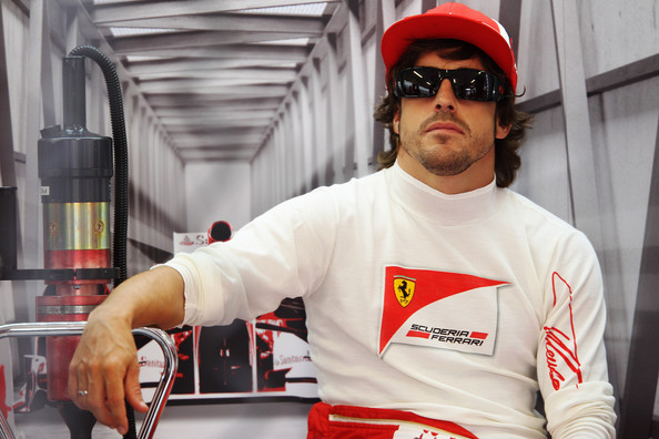 Fernando Alonso Fernando Alonso of Spain and Ferrari prepares to drive during practice for the European Formula One Grand Prix at the Valencia Street Circuit on July 24, 2011, in Valencia, Spain.
