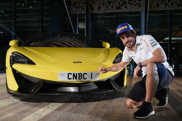 Fernando Alonso CNBC Abu Dhabi Formula One Reception