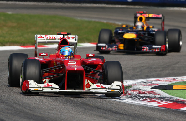 Sebastian Vettel and Fernando Alonso - F1 Grand Prix of Italy