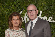 Fulvia Visconti Ferragamo (L) and architect William Sofield attend as Ferragamo Celebrates 100 Years in Hollywood at the newly unveiled Ferragamo boutique on September 9, 2015 in Beverly Hills, California.