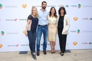"""(L-R) Actress Hannah New, actor Ruben Cortada, actress Adriana Ugarte and author Lola Duenas promote the """"El Tiempo Entre Costuras"""" new season during the day five of 5th FesTVal Television Festival 2013 at the Villa Suso Palace on September 6, 2013 in Vitoria-Gasteiz, Spain."""